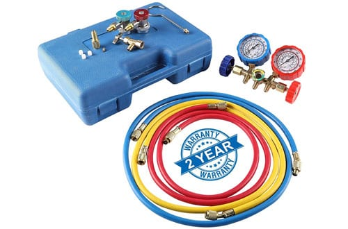 OrionMotorTech​​​ AC Diagnostic Manifold Gauge Set for R134A R12 R22 ័ R502 Refrigerants