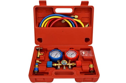 Mofeez Pro AC A/C Diagnostic Manifold Gauge Set - R134A R12 R22 Refrigerants