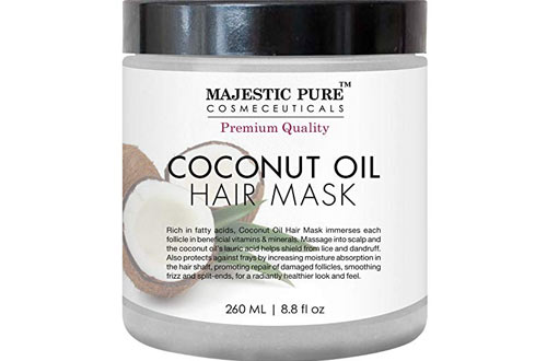 Majestic Pure Coconut Oil Hair Mask - Natural Hair Care Treatment