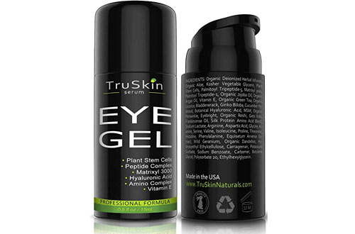 TruSkin Serum Best Eye Gel for Wrinkles, Fine Lines
