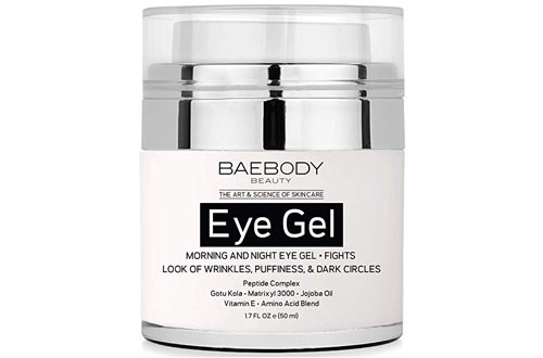 Baebody Under and Around Eye Gel for Dark Circles, Puffiness, Wrinkles and Bags