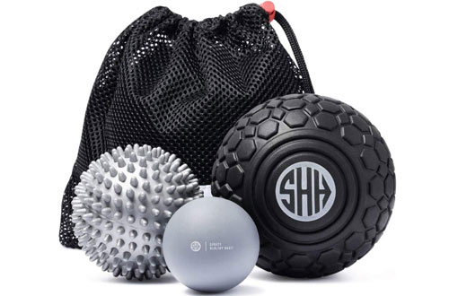 Sporty Healthy Habit 5-InchDeep Tissue Mobility Ball & Large Spiky Ball