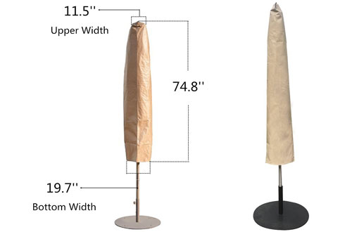 Abba Outdoor Patio Umbrella Cover for 7-11 Ft Umbrella