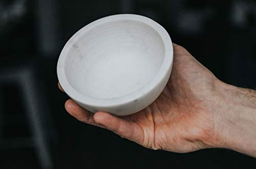 SUPPLY Marble Shaving BowlHandcrafted from Solid Marble