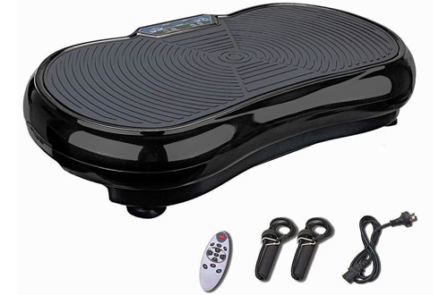 Pinty Fitness Vibration Platform Machinewith Remote Control and Resistance Bands