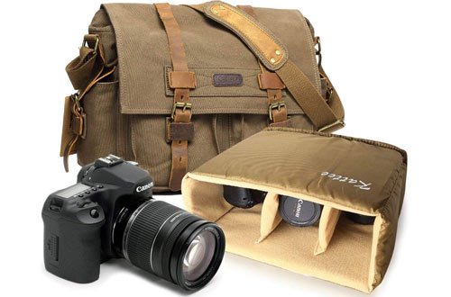 Kattee Leather Camera Bags for Vintage DSLR / SLR
