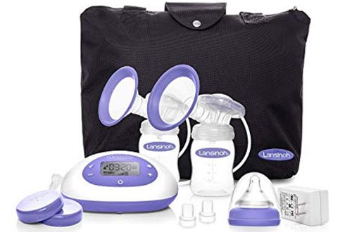Lansinoh Portable Double Electric Breast Pumps - Pump Milk for Breastfeeding