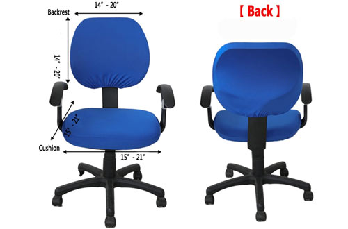 MelaluxeStretch Rotating Office Chair Slipcover