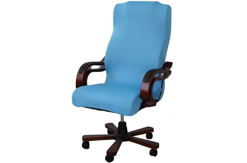 SmiryRotating Stretch Polyester Desk Chair Cover