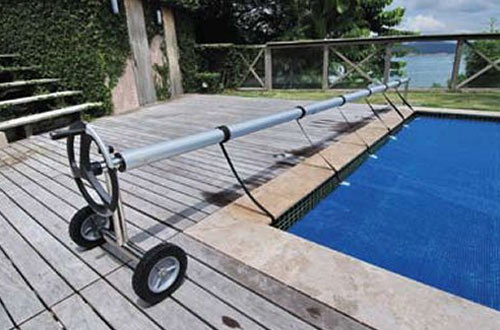 Kokido In-Ground Stainless Steel Pool Cover Reels with Metal Tube Set