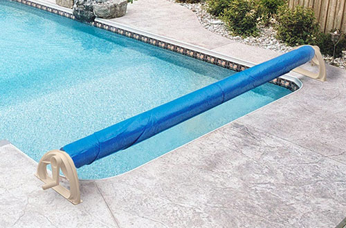 Aqua Splash 16ft Inground Swimming Pool Solar Blanket Reel