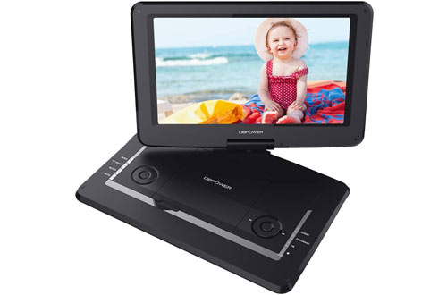 DBPOWER Portable DVD Player with Large Swivel Screen & Rechargeable Battery