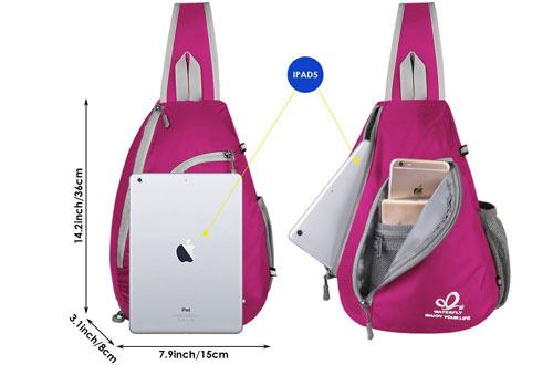 Waterfly Chest Shoulder Sling Bag Backpacks for Teens