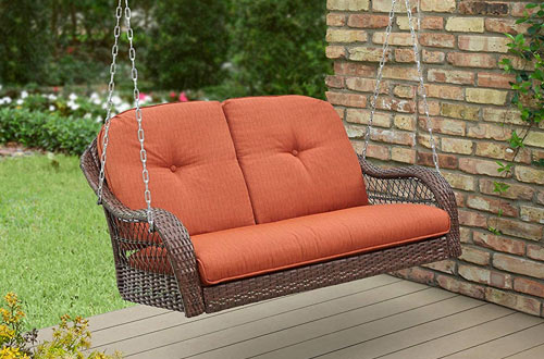 Better Homes and Gardens Comfortable Wicker Porch Swings