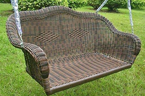 Furniture Piece Resin Wicker Hanging Swing