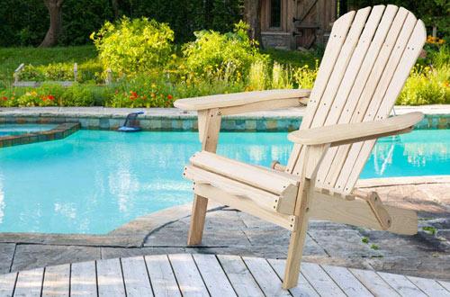 GiantexFoldable OutdoorWood Adirondack Chairsfor Patio Deck & Garden Deck