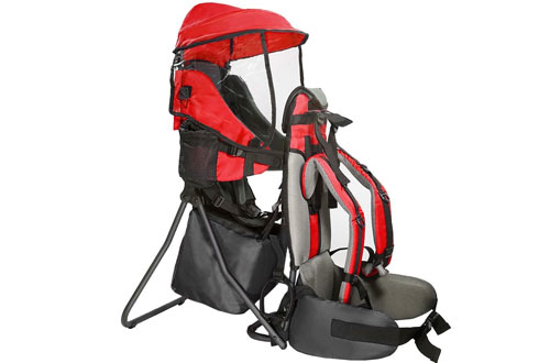 Clevr Premium Cross Country Baby Hiking Carrier with Stand and Sun Shade