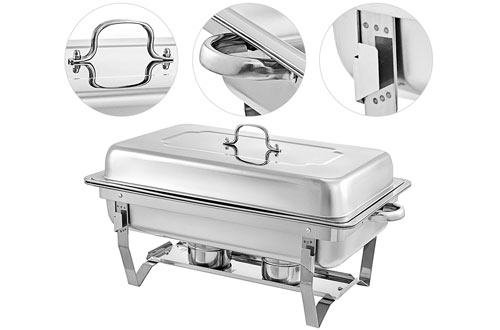 Mophorn 6 Packs Stainless Steel Rectangular Chafing Dishes