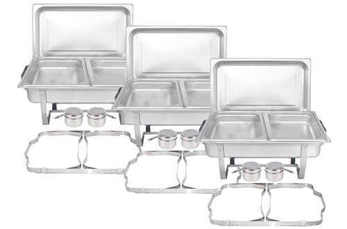 Tiger Chef Full-Size Chafer Dishwith Frame & Cool-Touch Plastic