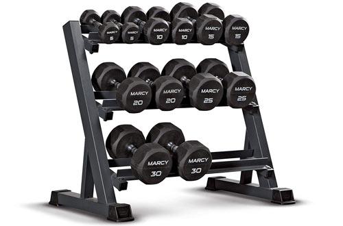 Marcy 3-Tier Dumbbell Rack Multilevel Weight StorageOrganizer