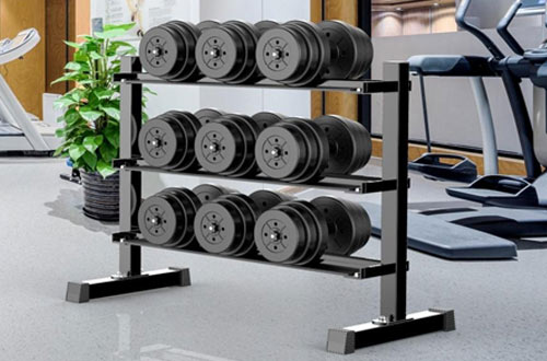 Yaheetech 3-Tier Horizontal Dumbbell Racks - 441 Lb