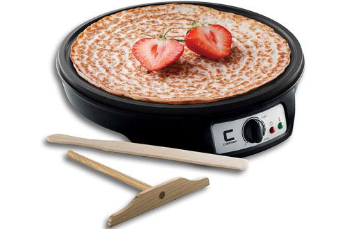 Chefman Electric Crepe Maker Griddle -Non-Stick Grill Pan