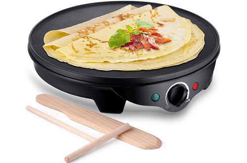 JYDMIX1300W Portable Crepe Maker Machine &Electric Pancake Maker