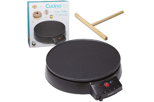 CucinaPro Crepe Pan Maker  for Blintzes, Eggs & Pancakes