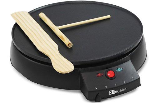 Elite Cuisine Electric Crepe Makers & Non-stick Griddle