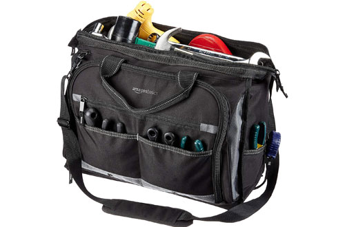 AmazonBasics Electrician Tool Bags with 50 Pockets