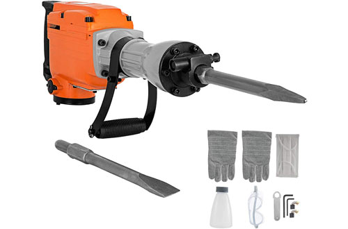 Mophorn 2200W Jack Demolition Drills with Flat Chisel