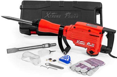 XtremepowerUS 2200Watt Heavy Duty Jackhammer for Concrete Breaker