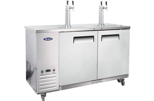 Kegerator Beer Dispenser with Tap Towers & Atosa Commercial Keg Cooler Refrigerators