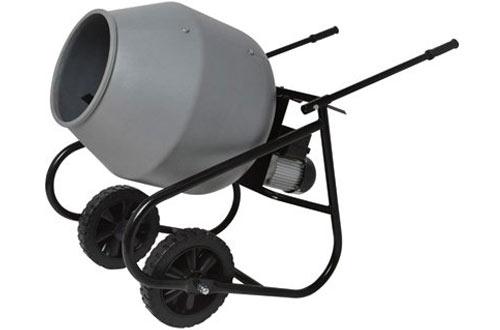 Klutch Portable Cement Mixers -2 Cubic Ft
