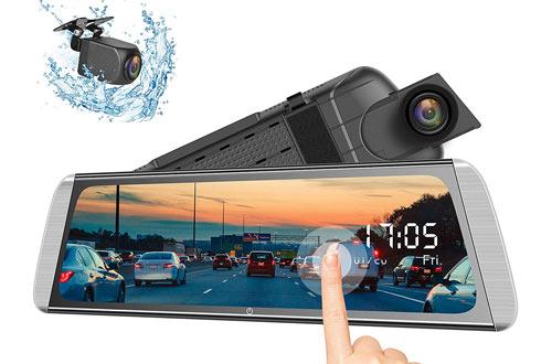 Campark R10 Rearview Mirror Cameras -Mirror Dash Cam Video
