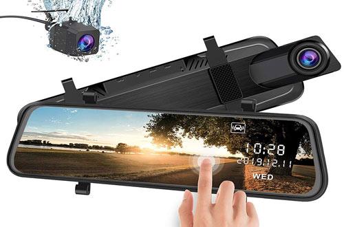 Mirror Dash Cam Backup Camerawith Backup Camera G-Sensor Parking Monitor