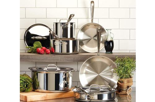 All-Clad D3 Tri-Ply BondedStainless SteelCookware Set &Pots and Pans Set