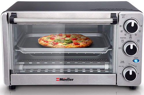 Mueller Austria Multi-function Stainless Steel Toaster Oven with Timer