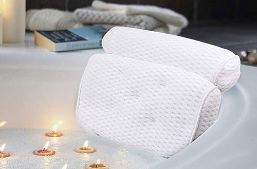 AmazeFan Bath Pillow & Bathtub Spa Pillow forHead, Back, Shoulder and Neck