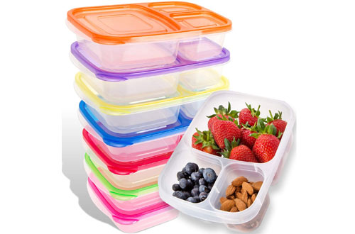 LUCENTEE Bento Lunch Boxes &Plastic Food Storage Container Boxes for Kids & Adults