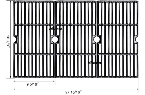 Hisencn Steel Cast Iron Grill Grates Replacement for Thermos