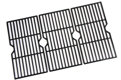 Hongso Polished Porcelain Coated Cast Iron Replacement Grill Grates for Charbroil Grill