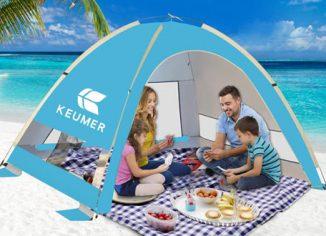 KEUMER Venustas Large Pop Up Beach Tents -Anti-UV Sun Shade for Family