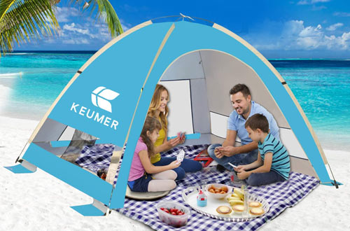KEUMER Venustas Large Pop Up Beach Tents - Anti-UV Sun Shade for Family