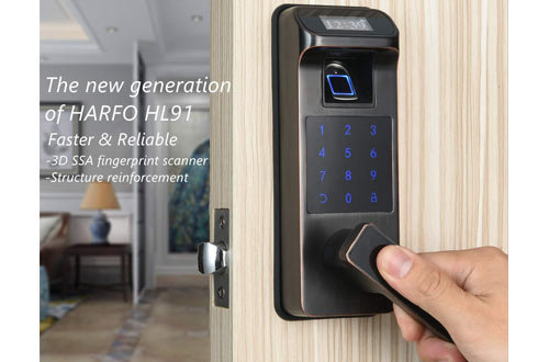 Newest Fingerprint & Touchscreen Keyless Smart Door Lock for Office Hom