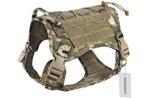 Motusamare Service Tactical Dog Harnesses with Handle