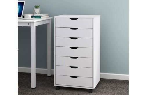DEVAISE Chest of Drawers - Storage Dresser with Wheels