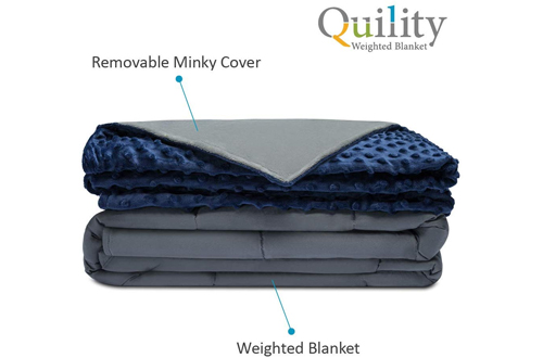 Quility Premium 15 lb Adult Weighted Blanket & Removable Cover
