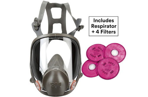 3M 6900 Reusable Full Face Respirators for Mold Remediation, Dust, Lead & Asbestos