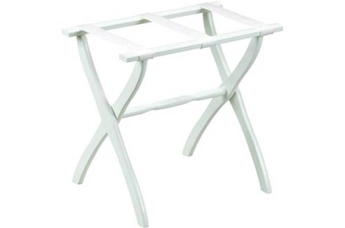 Gate House Furniture White Contoured Leg Luggage Racks